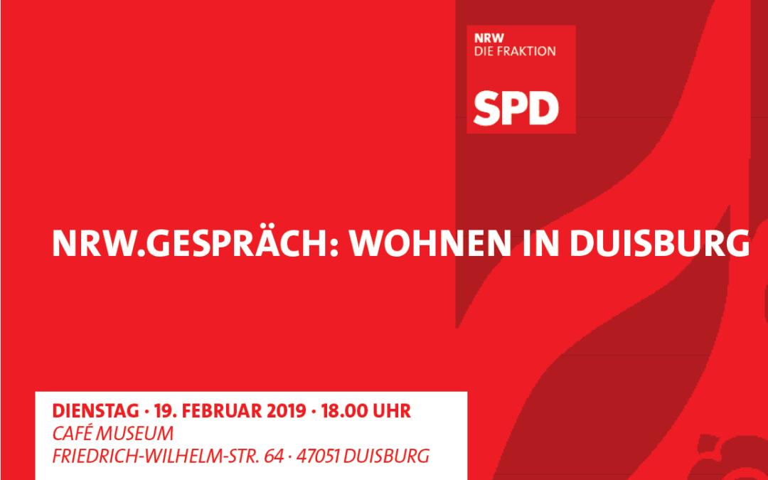 """Veranstaltung der SPD-Fraktion zum Thema """"Wohnen in Duisburg"""""""