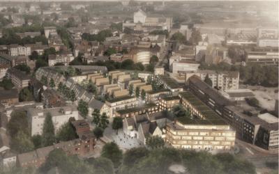 Grünes und autofreies Mercatorviertel verbindet Innenstadt und Innenhafen